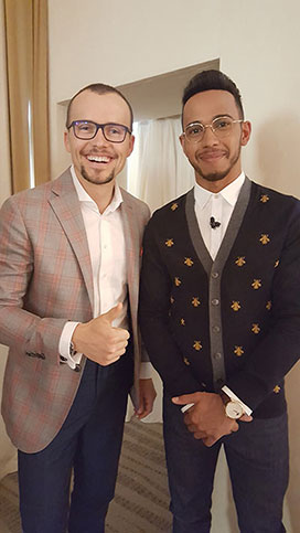 With Lewis Hamilton at Zeitgeist 2016 4x Formula 1 World Champion