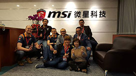 At MSI HQ Taipei