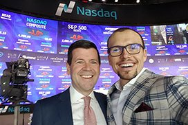 With Robert McCooey, VP of Nasdaq Stock Exchange, New York