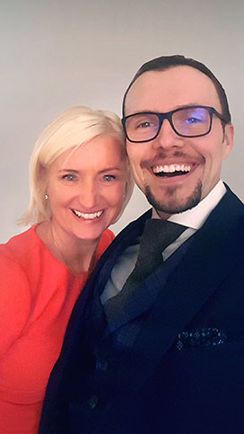 With Carolyn Everson, VP of Facebook